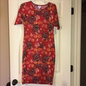 NWT Lularoe Rose/Paisley Julia Dress